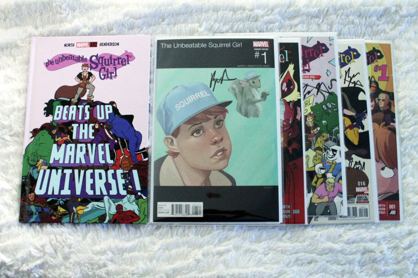 Squirrel Girl Comics Signed By Ryan North