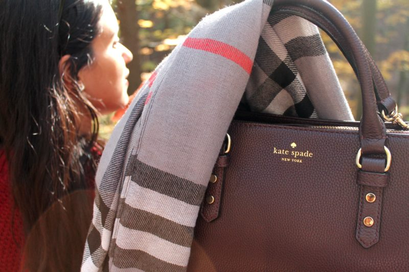 Fall Kate Spade Purse and Scarf