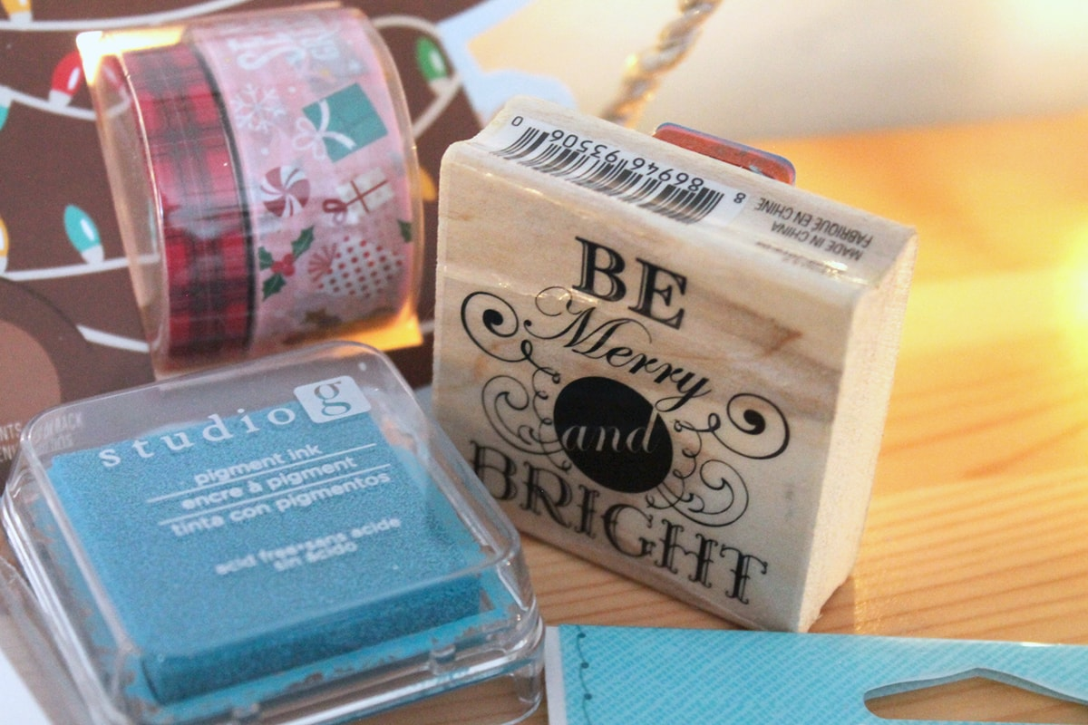 DIY Be Merry and Bright Stamp Pad