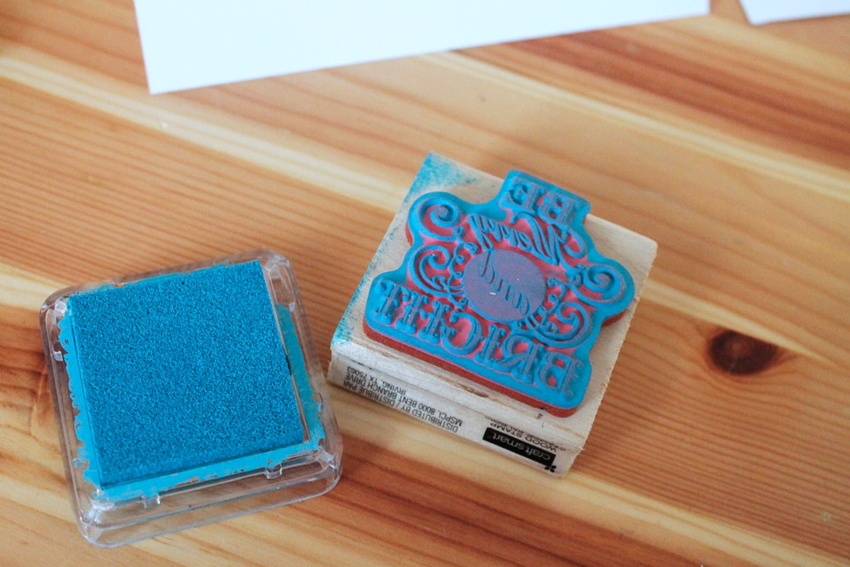 DIY Merry and Bright Stamp