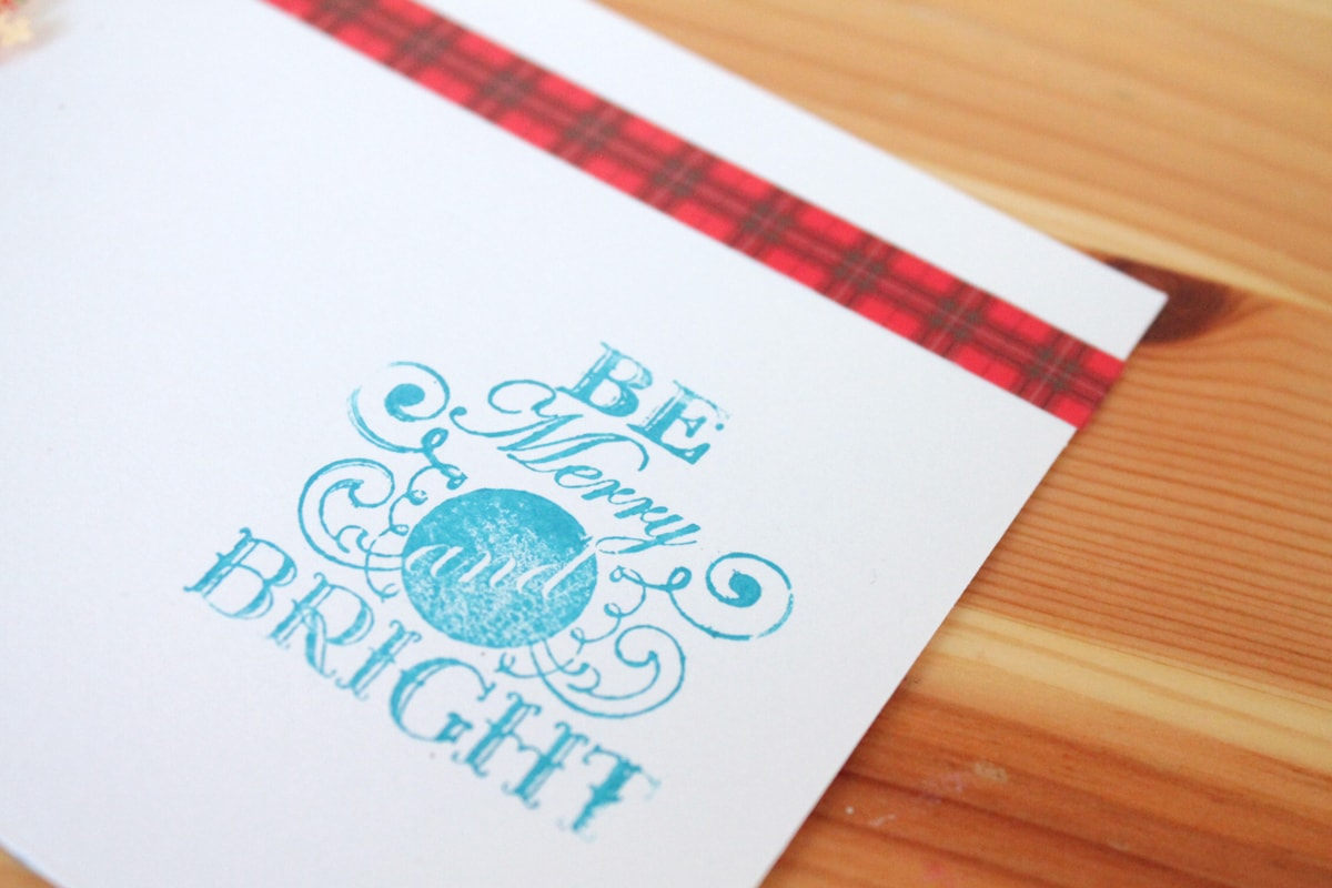 DIY Be Merry and Bright Stamp
