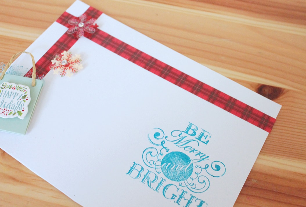 DIY Be Merry and Bright Stickers